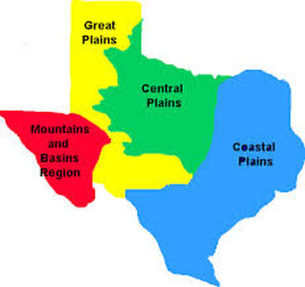 Regions Of Texas Map 4th Grade.S S Texas Regions 2 Mrs Bordier S 7th Grade Humanities